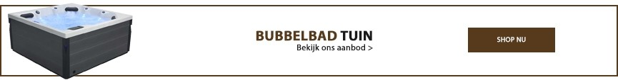 Bubbelbad tuin banner